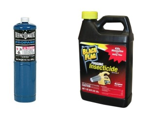 propane and insecticide